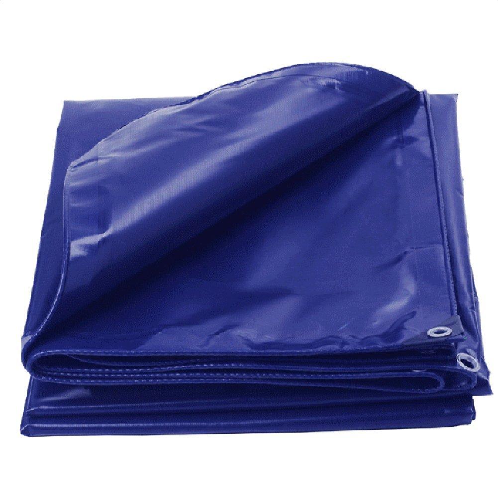 CHAOXIANG ターポリン 耐摩耗性 日焼け止め布 シェード布 軽量 キャノピー リノリウム PVC、 550G/㎡、 10サイズ (色 : Blue, サイズ さいず : 4.8x5.8m) B07FZ6T61G 4.8x5.8m|Blue Blue 4.8x5.8m