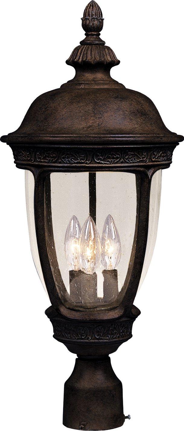 Maxim Lighting 3461 Knob Hill DC Outdoor Pole/Post Mount Lantern, Sienna Finish, 13 by 28-Inch by Maxim Lighting  B0017Q7Y3M