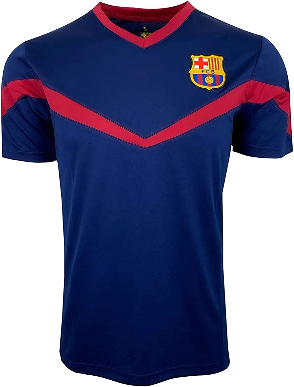 Icon Sports Youth Barcelona Training Jersey, Licensed Barcelona Soccer Shirt for Boys