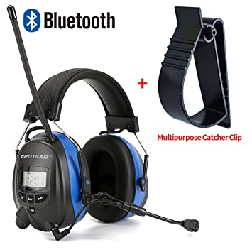 Protear Bluetooth Hearing Protection Safety Ear Muffs Am Fm Radio