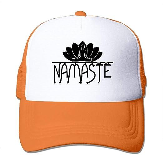 0774852e534 Oiir Ooiip Namaste with Lotus Flower 1 Unisex Mesh Baseball Cap Dad Trucker  Hat