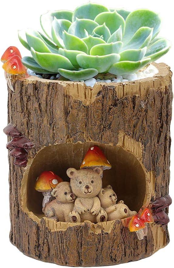 Segreto Creative Plants Pots Brush Pots Planter For Flower Sedum Succulent Plants Desk Garden Room Pot Decor,Sweet Bear