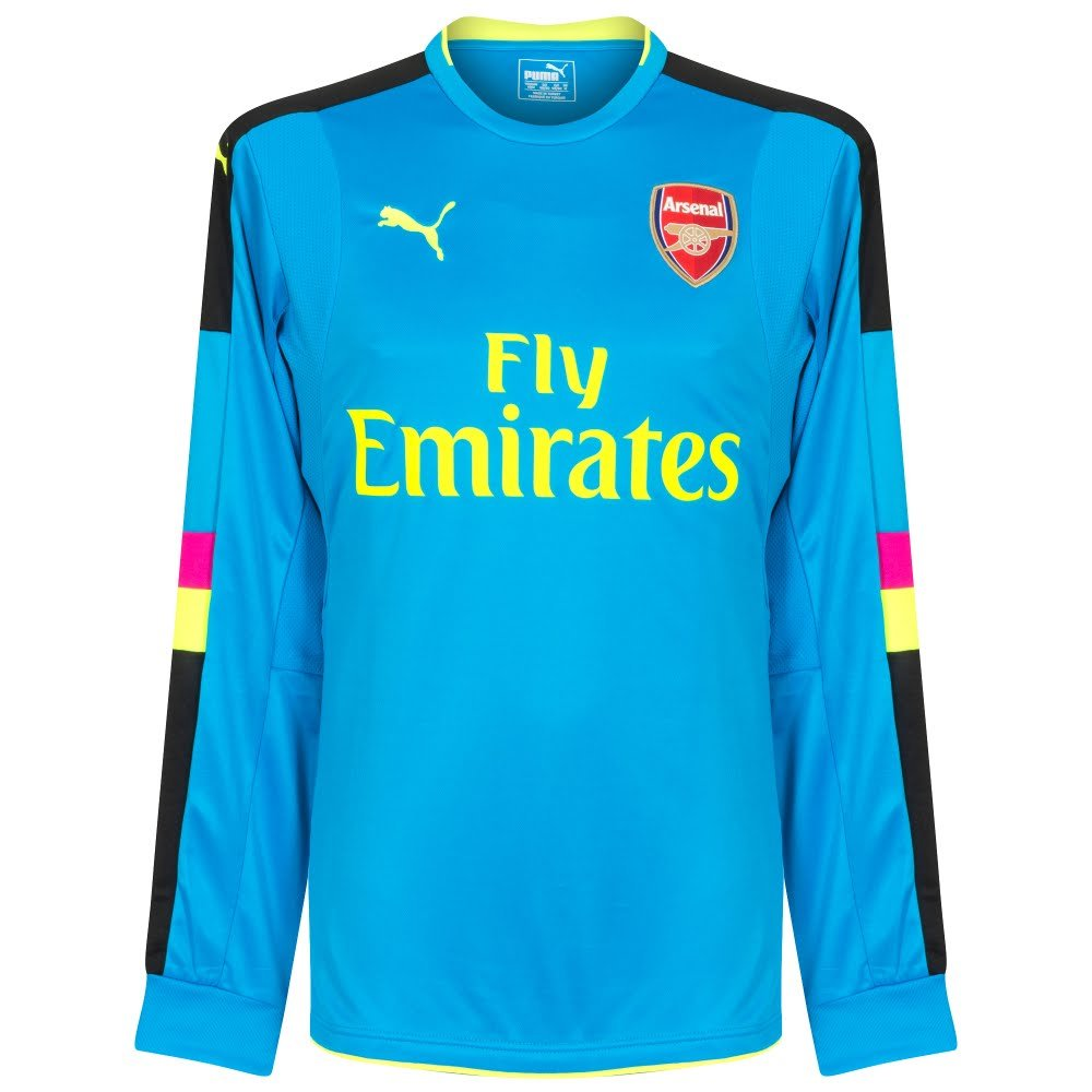 Puma 2016-2017 Arsenal Away LS Goalkeeper Football Soccer T-Shirt Trikot (Blau)