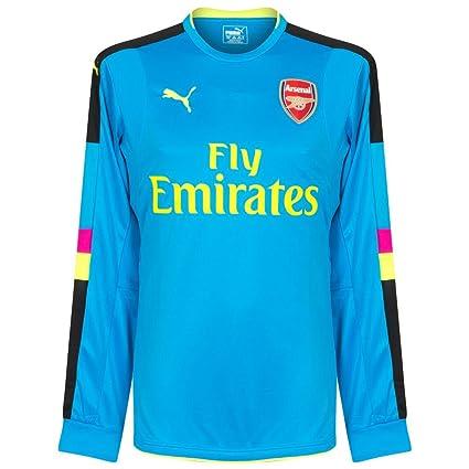 f8bbc293f Amazon.com   2016-2017 Arsenal Puma Away LS Goalkeeper Shirt (Blue ...