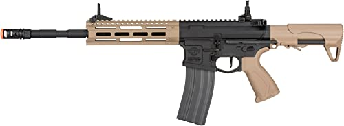 G G CM16 Raider L 2.0E 6mm AEG Airsoft Rifle w MOSFET – Black Tan