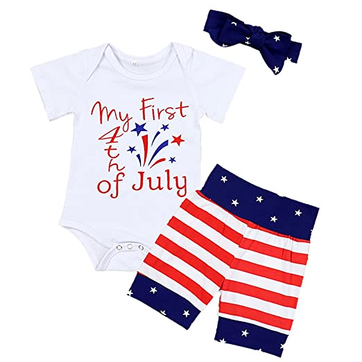 baby boys girls my first 4th of july romper independence day newborn infant clothes short sleeve