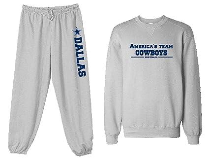 Unisex personalizado gris Cowboys América equipo fútbol sudadera pantalones) personalización disponibles, Gris