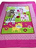 Crazy Cart Animal Zoo Baby Quilt Crawling Mat Play Pad 43''x51''