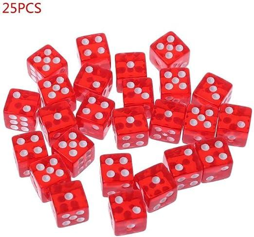 WHFDSBD Dados Poliédricos,Juego De Dados Rojos De Fiesta 12 Cuadrados Coloridos Cubos Transparentes Club Regalos para Jugar Dungeon D &Amp; Juegos De Mesa Escritorio D 25 Pcs/Set: Amazon.es: Hogar