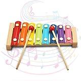 MOHOO Jouet xylophone 8-notes Jouets musicaux du la bébé jouets d'enseignement formation Inspirez Bébé talent musical Jouet Piano et Clavier pour enfants -en bois / en couleurs Cadeau Enfant et Mère