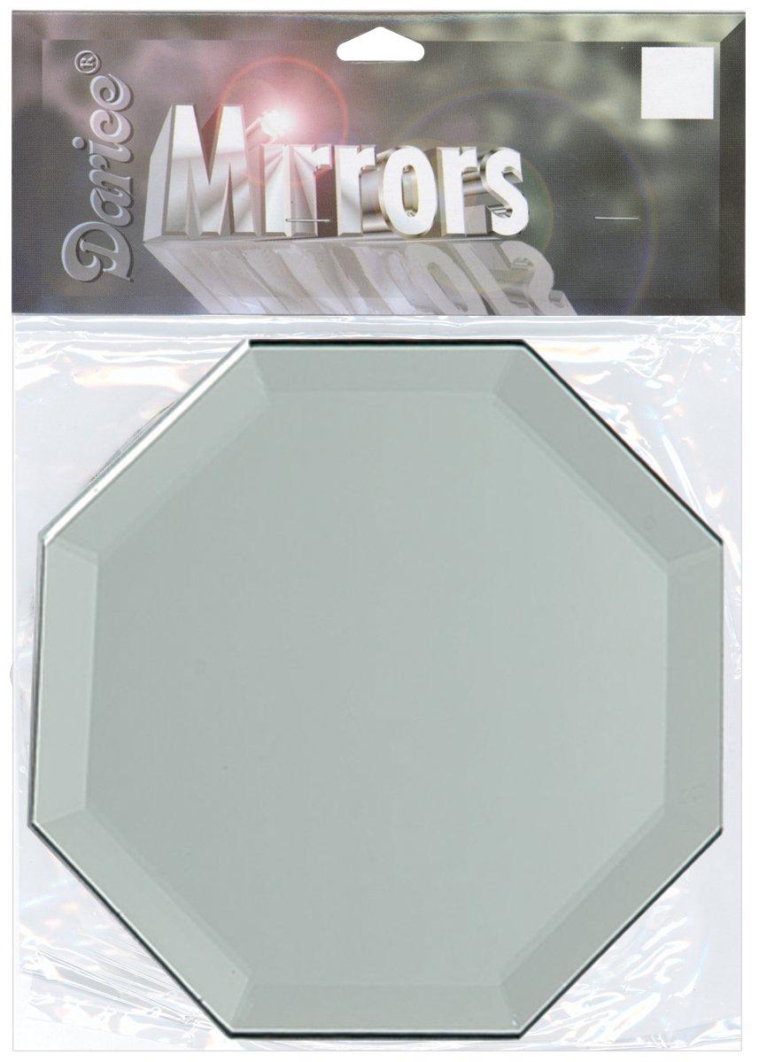 Darice Octagon Glass Mirror, 4-Inch