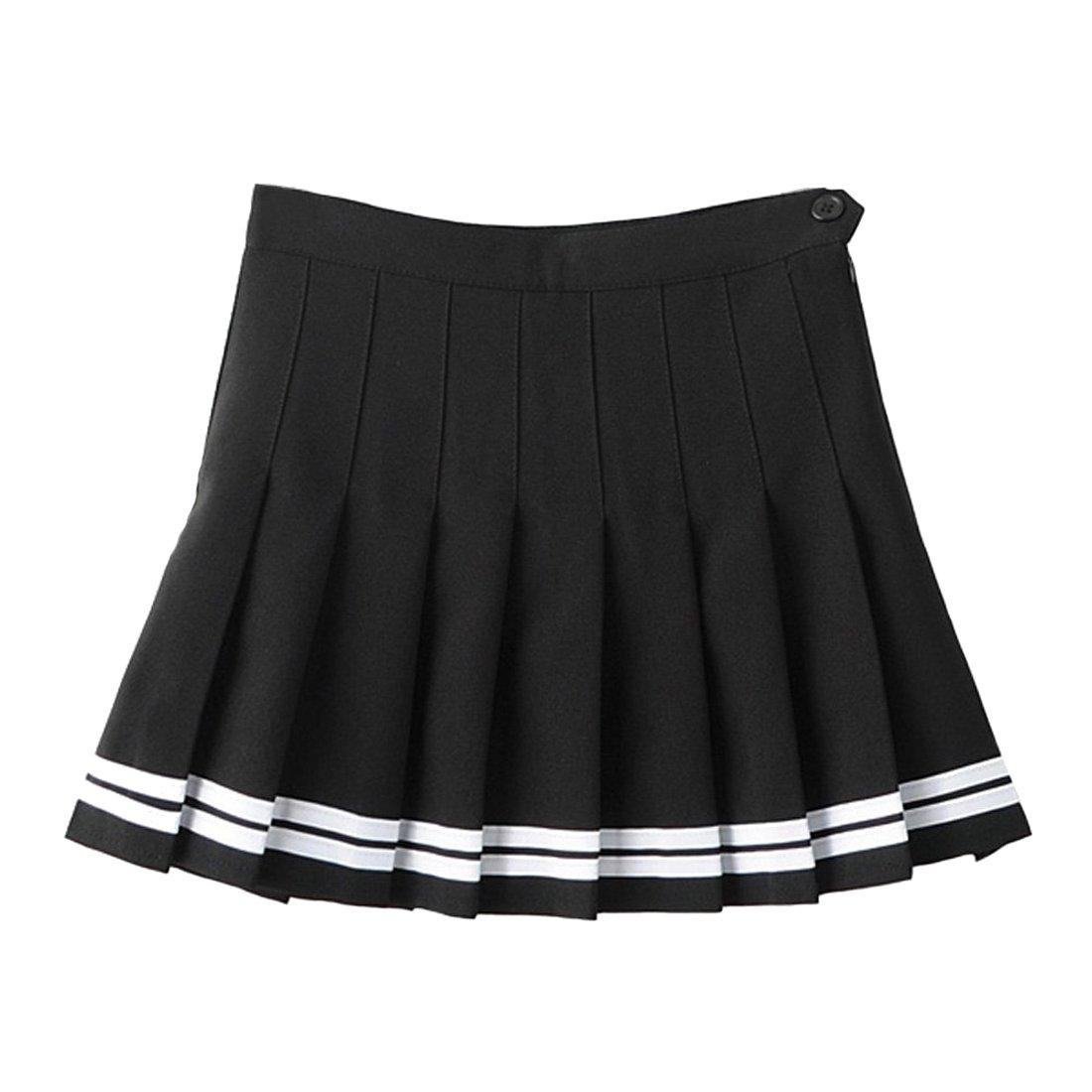 TZSJGL Girls Sports High Waist Pleated Skirts Underpants Cheerleader Teen Tennis Scooters Skirts