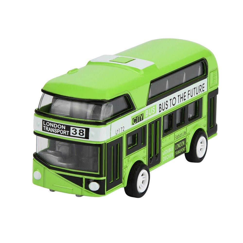 DingLong Ziehen Sie Autos zurück,Bus Kindertag Geschenk Spielzeug Modell Mini Toy Car Rückseite des Autos Geschenk Kann als Artikeldekoration verwendet Werden