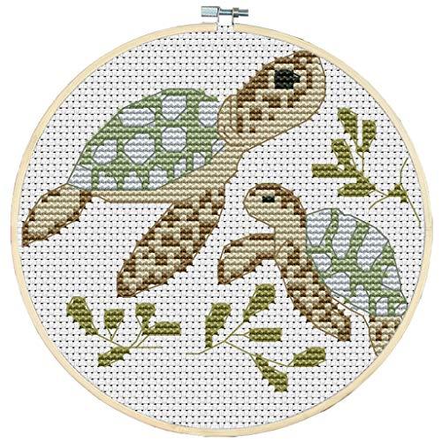 - Shoresu 14CT Counted Cross Stitch Kits, Turtle Cross-Stitch Pattern DIY Hand Needlework Kit Printed Embroidery Kit Set Home Decoration