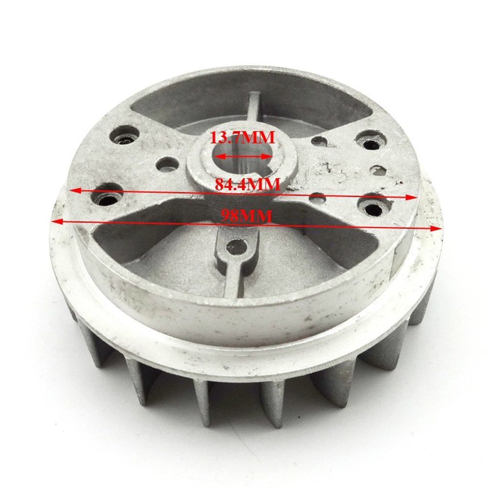 TC-Motor Black Alloy Pull Starter Start + Flywheel + Screws For 2 Stroke 47cc 49cc Engine Mini Scooter Kids Dirt Bike Quad ATV by TC-Motor (Image #6)