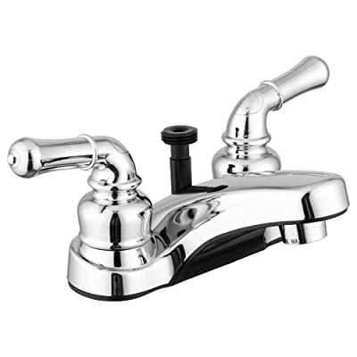 Dura Faucet DF-PL720C-CP RV Bathroom Faucet with Classical Handles and Shower Hose Diverter (Chrome): Automotive