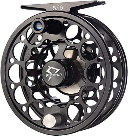 3//4 5//6 7//8 CNC Machined Aluminum Fly Fishing Reel Adjustable Drag Large Arbor