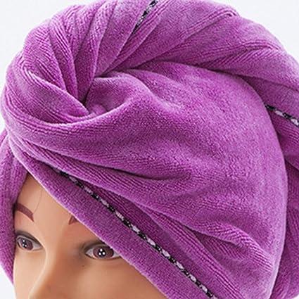 Asciugamani per capelli per donne Morbidi teli per