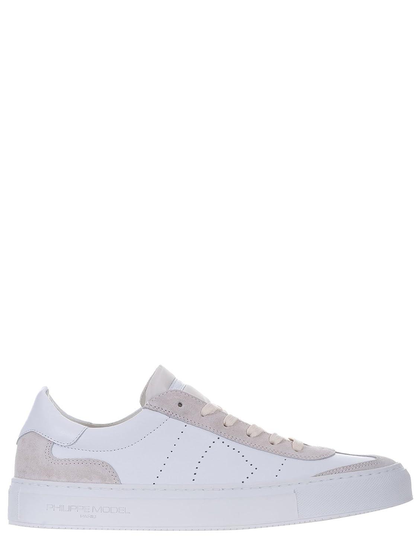 Phillipe Model - Zapatillas de Cuero para Hombre Blanco Bianco -
