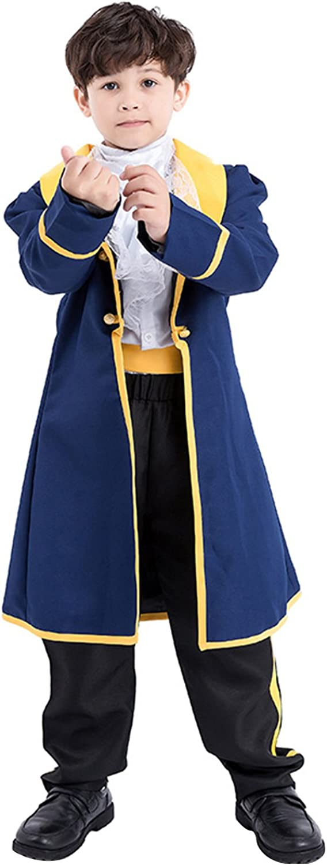 Disfraz De Principe Cosplay De La Pel¨ªcula De Ninos Abrigo Azul Camisa Blanca Disfraz De Disfraces De Halloween para Ninos: Amazon.es: Ropa y accesorios