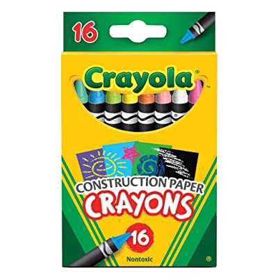 Crayola Construction Paper Crayons, Assorted Colors, Set of 16: Toys & Games