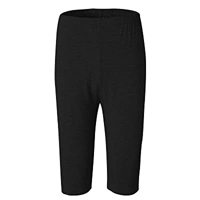 Azue Women's Plus Size Ultra Soft Light Cooling Cropped Bamboo Leggings Shorts 1/2 Pants