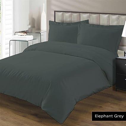 Egyptian Cotton 1000 TC Deep Pocket 6 PC Sheet Set All Size Elephant Grey Solid