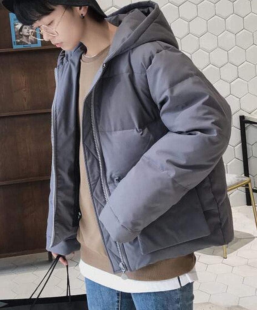 ARTFFEL Men Winter Warm Hoodie Plus Size Relaxed Fit Down Puffer Jacket Coat Outerwear
