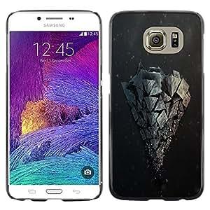 YiPhone /// Prima de resorte delgada de la cubierta del caso de Shell Armor - Rock Formation - Samsung Galaxy S6 SM-G920