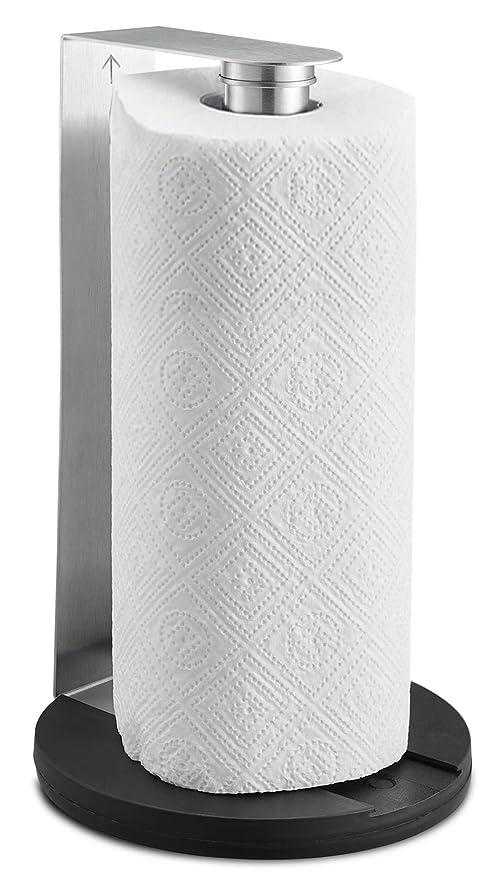 SILBERTHAL Portarollos cocina pared | Soporte rollo papel cocina | Porta rollos papel cocina acero inoxidable | Soporte papel de cocina para mesa y ...