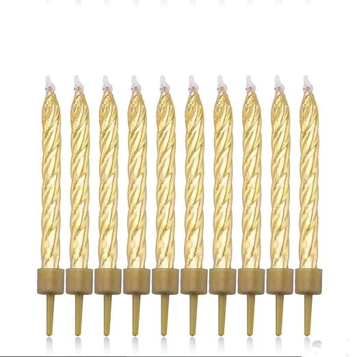 DGTRHTED Velas de cumpleaños - 10 Piezas de Pastel de ...