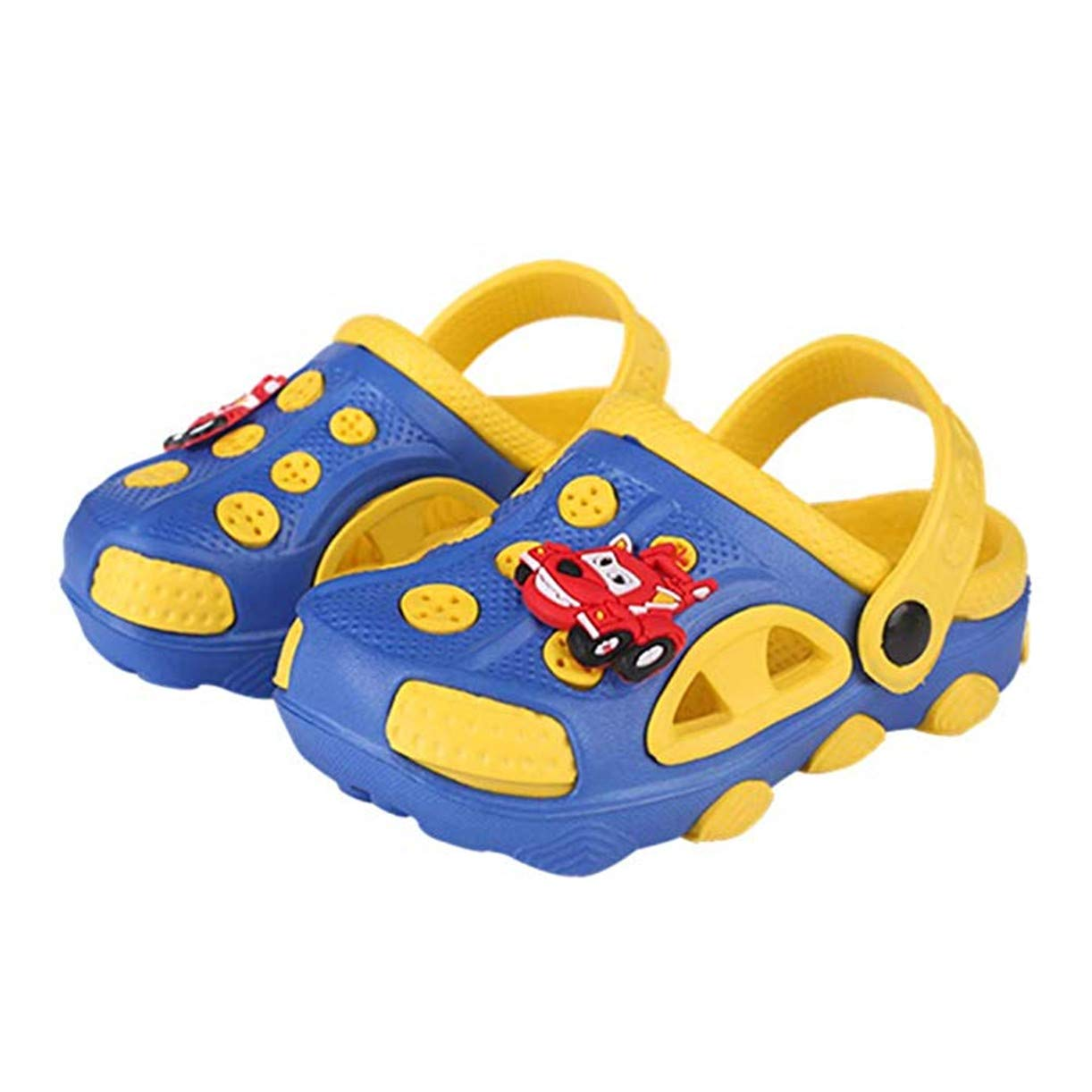 Fashion-zone Toddlers Cartoon Slides Sandals-Lightweight Garden Clogs Beach Sandals for Toddler Boys Girls (6 M US Toddler, Blue)