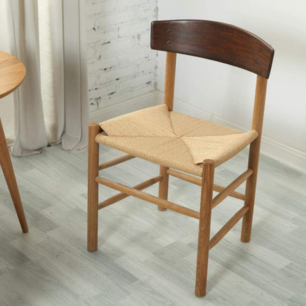 Yujinmaoyi Dining Chairs Dining Room Furniture Rope Weave Solid Wood Dining Chair Coffee Chair Sillones Silla Chaise Salle A Manger Moderne Amazon Co Uk Kitchen Home