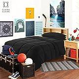 Clara Clark 6 Piece Bed In A Bag Bedding Comforter Set, Twin/X-Large, Black