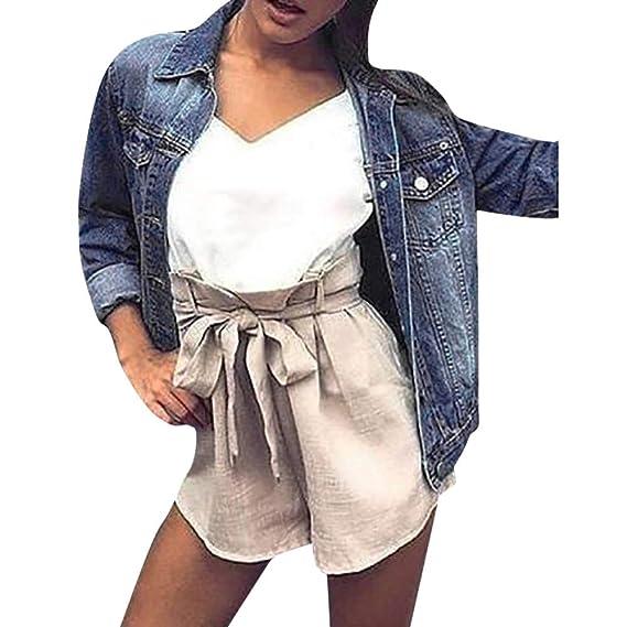Longra Damen Jeansjacke Übergangsjacke Denim Jacke Blouson Vintage  Boyfriend Jeans Jacke Leichte Denim Herbstjacke Bomberjacken Steppjacke b333d1abc1