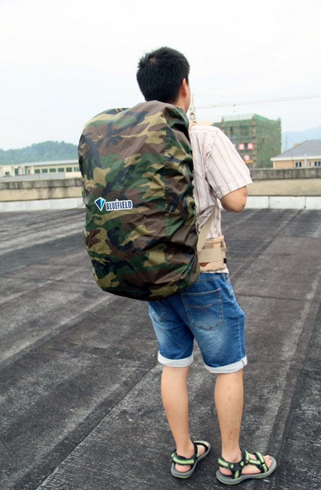 Color Black//Blue//Gray BlueField Backpack Bag Rain Cover for Outdoor Hiking Travel Water Resistant Size: S//M//L