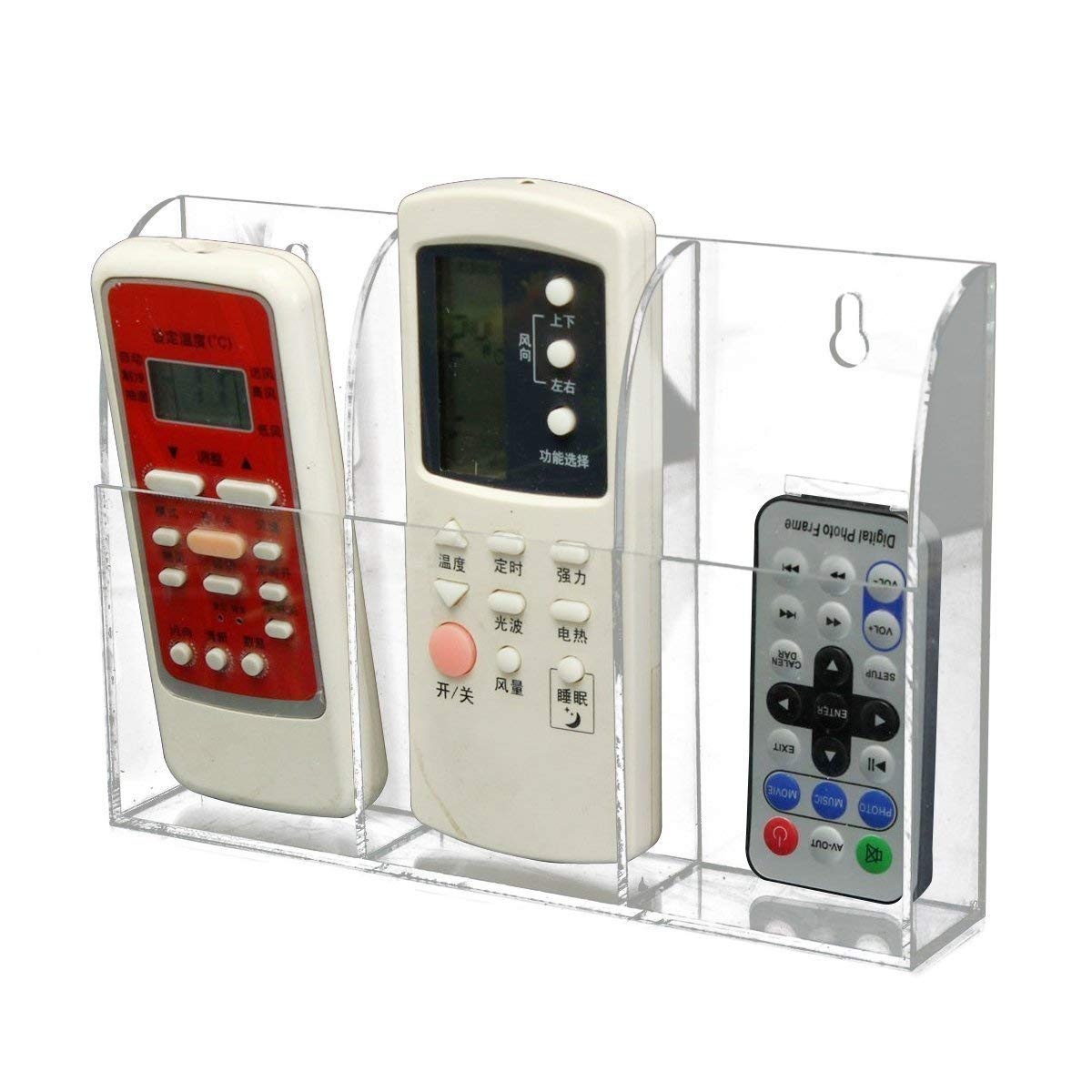 Masarrat Acrylic Multipurpose Holder, Remote Holder, TV Holder, AC Remote Holder, Remote Holder for office and Home, Wall Mounted Remote Holder, Remote Control Holder, Cosmetic Storage Holder, Station