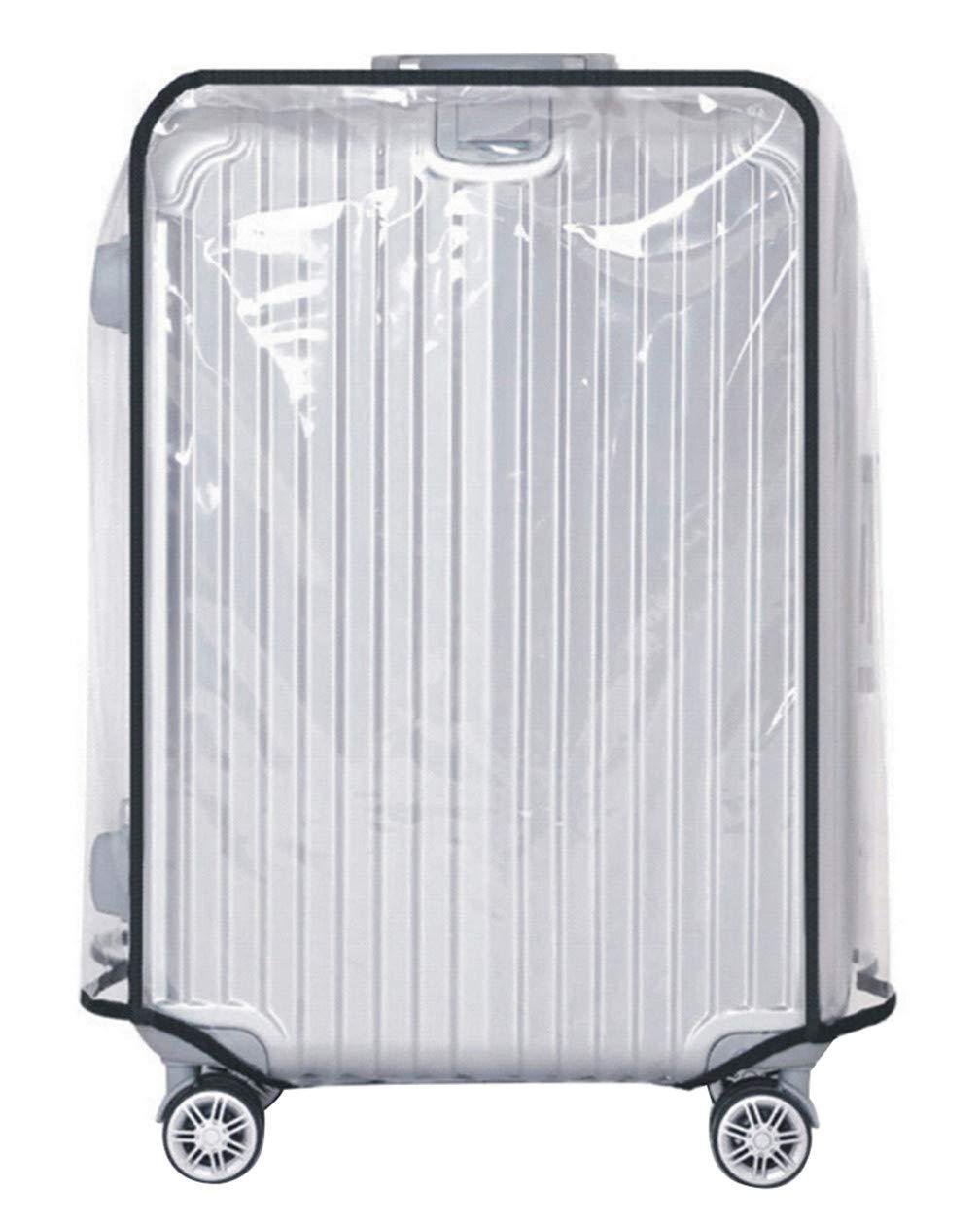 PVC Housse de Protection pour Bagage Transparent Imperm/éable Anti-Rayures Protecteur de Valise/,Transparent,20 Pouces Housse de Protection Valise