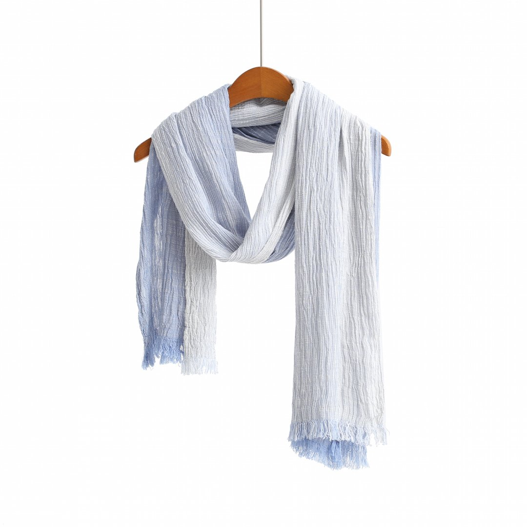 Cotton Scarf Shawl Wrap Soft Lightweight Scarves And Wraps For Men And Women. (Light Blue Gradient)