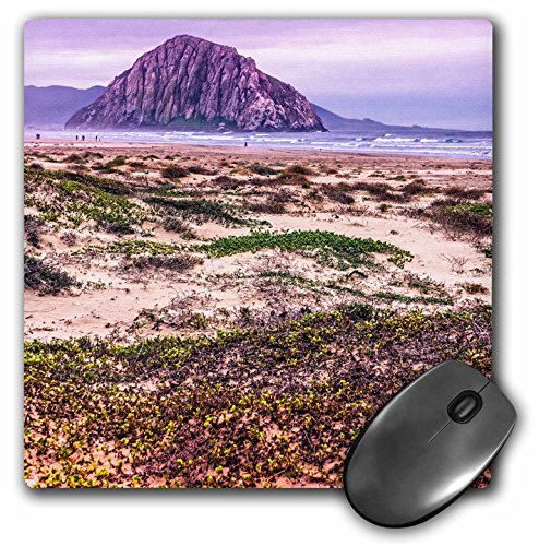 3Drose LLC 8 X 8 X 0.25 Inches Mouse Pad, Morro Rock and Bay (Mp_110807_1)