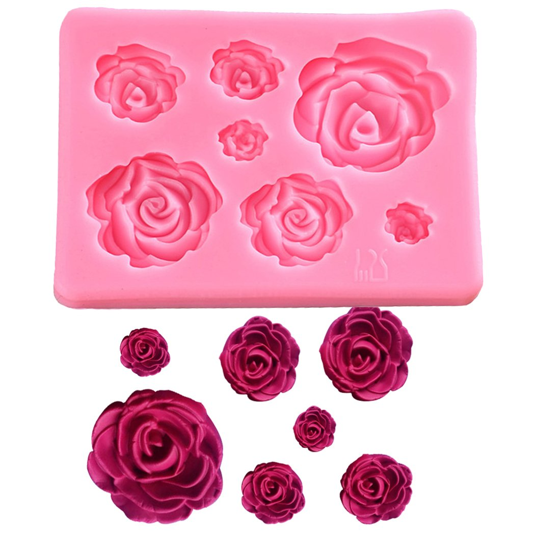 Silicone ss1156800 Baby Feet Mold Soap Clay Fimo Chocolate Sugarcraft Baking Tool DIY Shower Birthday Party Cake Decoration, S