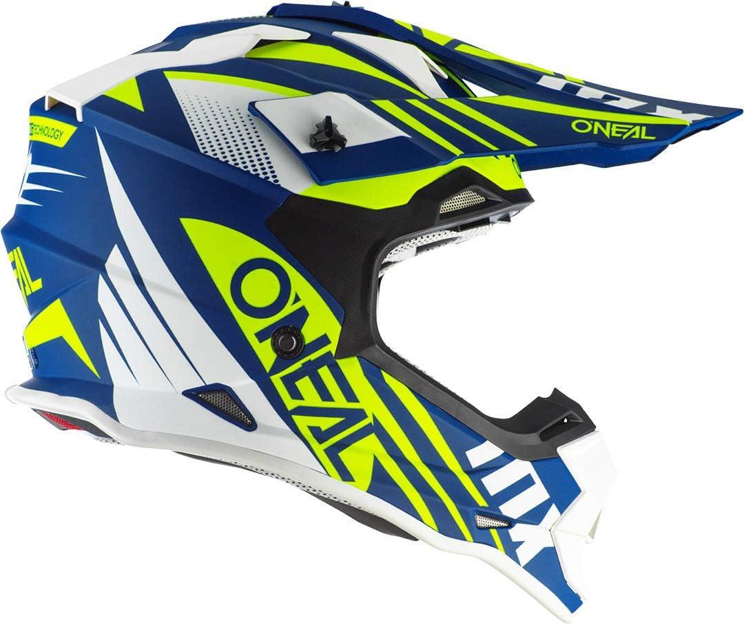 ONEAL 2 Series Spyde 2.0 Motocross Enduro MTB Helm blau//gelb//wei/ß 2020 Oneal