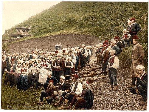 Photo: A group of peasants,Bosnia,Austro-Hungary