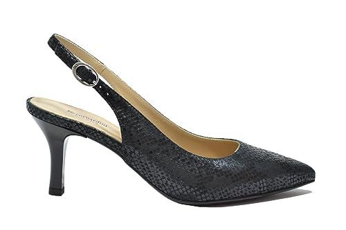 NERO GIARDINI Decollete' scarpe donna nero 7432 elegante mod. P717432DE