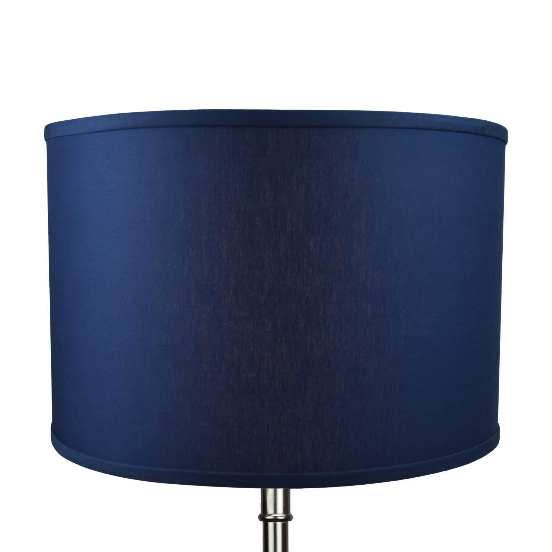 Designer Oatmeal FenchelShades.com 18 Top Diameter x 18 Bottom Diameter 12 Height Cylinder Drum Lampshade USA Made