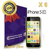 OnlineBestDigital - Films de protection d'écran pour Apple iPhone 5C, Crystal Clear / Transparent - OBD Emballage au Détail (Pack de 6)