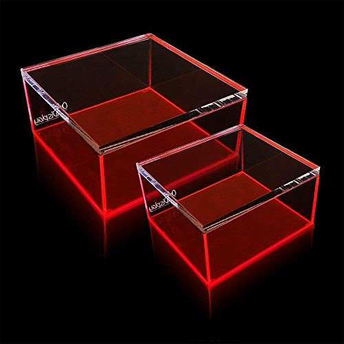 OnDisplay Electric Neon Luxe Clear Acrylic Storage Treasure Box – Large
