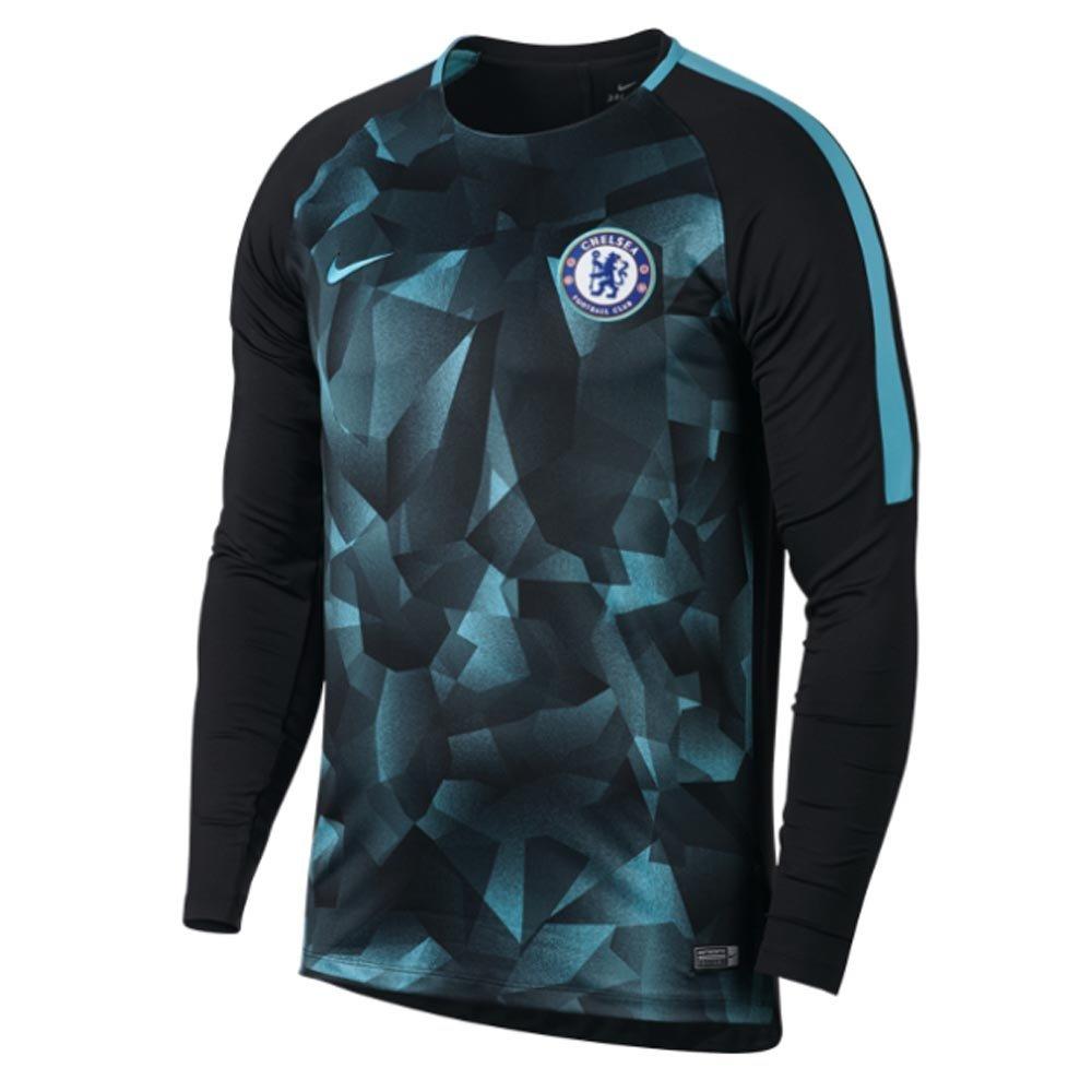 2017-2018 Chelsea Nike Dry LS Squad Training Shirt (Black) B07455VQ7PBlack XXL 50-52\