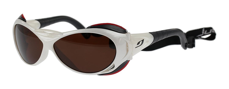 Julbo Explorer blanco gafas de sol, polarizadas marrón lentes categoría 4, tamaño grande: Amazon.es: Deportes y aire libre