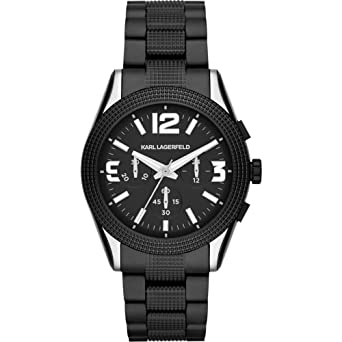 amazon com karl lagerfeld kl2801 chronograph textured bracelet karl lagerfeld kl2801 chronograph textured bracelet men s watch